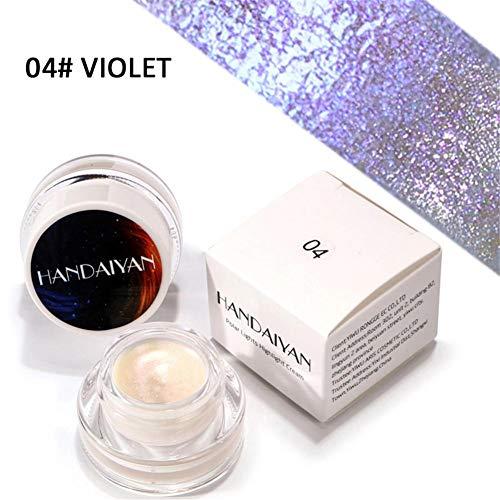 Hoogglanzende oogschaduw, duurzame Shiny, verleidelijke oogschaduw, make-up, geschikt voor beginners, keuze uit 5 kleuren D