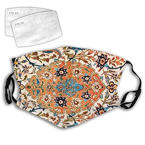 Isfahan Antiek Centraal Perzisch Tapijt Prints Stof Mond Verstelbare Winddichte Oor Loops Herbruikbare Gezicht Cover