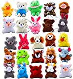 ThinkMax 24 Pack Mini Plush Animals Toy Assortment, Small Stuffed Animals in Bulk for Kids Party Favors