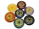Healing Crystals India®: Juego de piedras preciosas naturales para chakras, forma redonda.