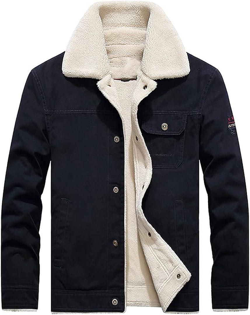 Men's Military Uniform Thickened Fleece Jacket Men's Outdoor Pure Cotton Windproof Work Jacket