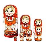 unknows Lot de 10 poupées russes pour bébé garçon, poupées gigognes peintes à la main, poupées interactives imbriquées, peinture colorée, décoration de table, poupée bébé garçon, poupée pour enfants