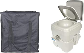 Portable Toilet Storage Bag,Standard 5.3 Gallons Portable Toilet Carrying Case,Heavy Duty Oxford RV Toilet Protector Cover,Great Accessories For Transporting And ProtectYour Camping Toilet, RV Toilet
