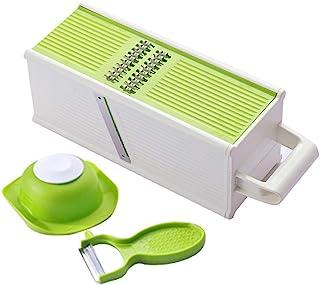 Trancheuse Mandoline Coupe-légumes Veggie Dicer Multifonction 5 en 1 Grand Râpe Slicer Poche Mandoline Légumes Slicer Râpe...