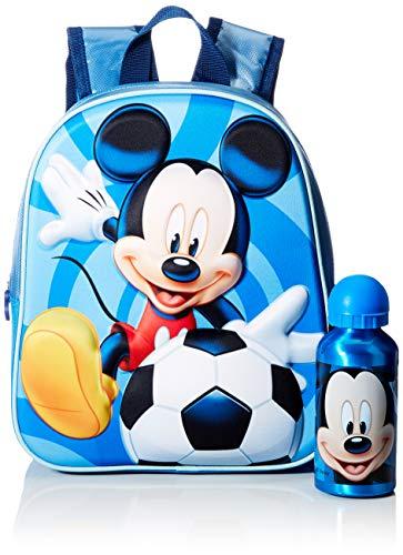 Cerdá  Mochila con Botella de Agua Infantil de Mikcey Mouse Licencia Oficial Disney