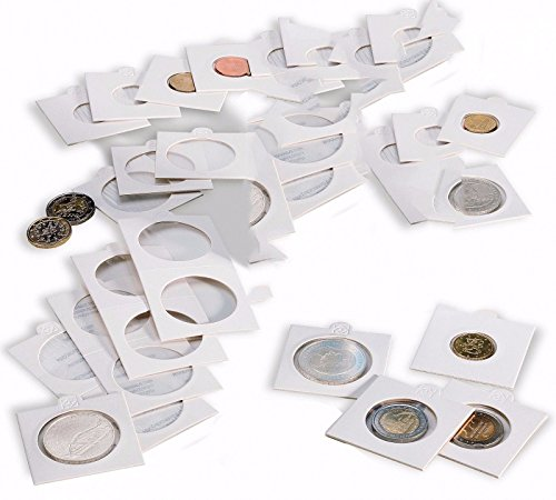 100 Lighthouse Cardboard 2×2 Self-Adhesive Holders 32.5mm Coins