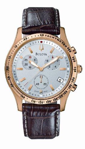 Bulova oro PVD Gents Crierion cronografo da polso orologio