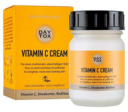 DAYTOX - Vitamin C Cream - Feuchtigkeitsspendende Gesichtscreme mit Vitamin C - reduziert dunkle...