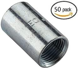 Galvanized Steel Couplings for Rigid Conduit and Intermediate Metallic Conduit (IMC) (3/4 in. diameter; 50-pack)