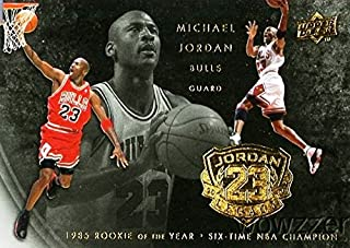 Michael Jordan 2009/10 Upper Deck #96 Legacy Hall of Fame Set! Special 6 Time NBA Champion & 1985 Rookie of the Year Card! Rare Card of Bulls HOF'er! Shipped in Ultra Pro Top Loader!