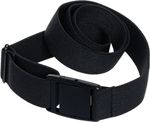 Invisible Belt for Women - Elastic Adjustable No Show Web Belt by Silver Lilly (Black, 0-14)