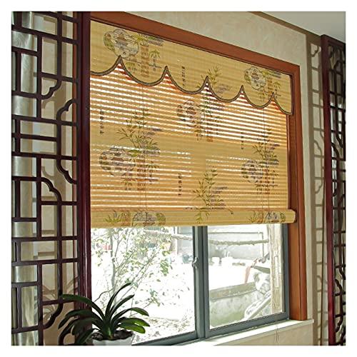 CHAXIA Bambus Rolle Bambusrollo, Wohnzimmer Schlafzimmer Gang Partition Türvorhang, Lichtfilter Sonnenschutz Belüftung Raffrollos, 2 Farben Anpassbar Multi-Größen (Color : B, Size : 90cmx180cm)