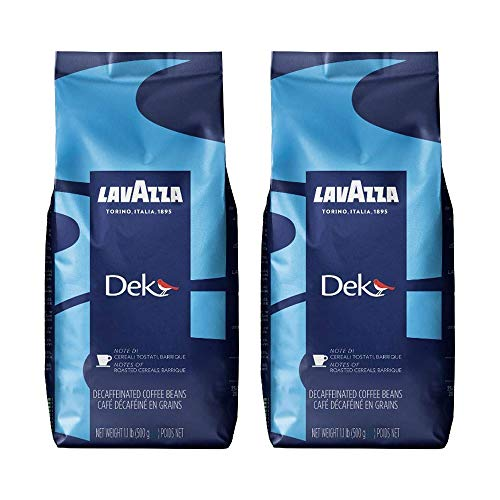 Lavazza DEK Kaffee, Decaffeinato, ganze Bohnenkaffee (2 x 500g)