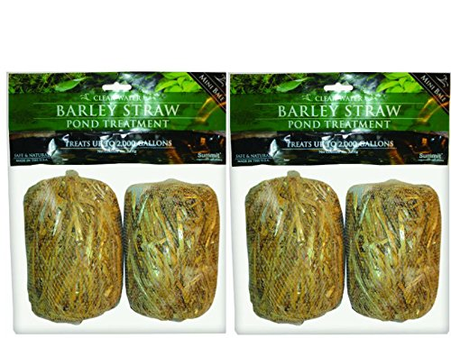 Summit 125 Clear-Water Barley Straw Bales, Treats up to 1000-Gallon, 2 Packs of 2- 4 total