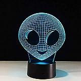 Boutiquespace 3D Ilusión Led Luz de Noche 3D Forma Acuario Lámpara de Mesa Decoración del Hogar Regalo de Navidad Decoración Lámpara 7 Colores