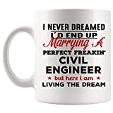 Proud Marrying Husband Wife Civil Engineer Mug Best Coffee Cup Gift Valentine Married Couple Marry | Funny Best Gift Mom Dad Graduation Future Most Awesome