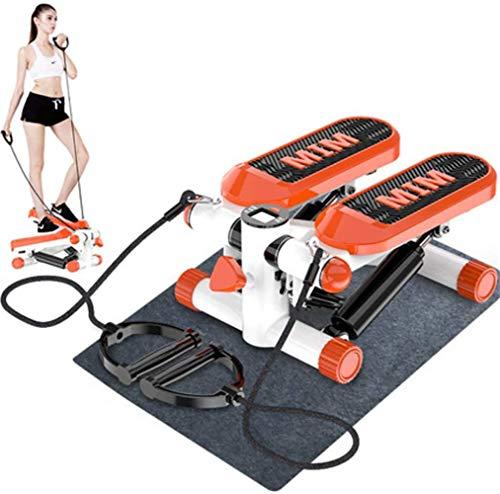 Mini Stair Stepper Einstellbare hydraulische Stepper-Trainingsgeräte mit Widerstandsband-LCD-Display Aerobic-Training Kalorienverbrauch für Frauen Mann