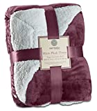 Genteele Sherpa Throw Blanket Super Soft Reversible Ultra Luxurious Plush Blanket (50 inches x 60 inches, Rich Purple)