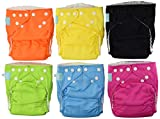 Charlie Banana 6 Reusable Diapers 12 Inserts Set Tutti Frutti, Medium