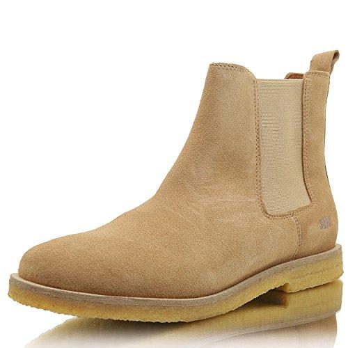 SHOOT Herren Chelsea Boot Wildleder Schuhe (43 EU, Leopardo)