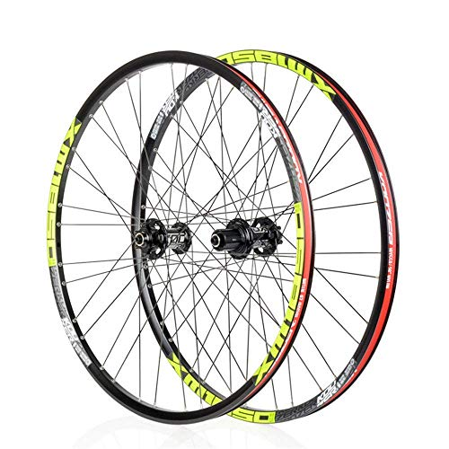 Bicycle Wheelset (Front/Rear) Double-Walled MTB Rim, 26/27.5 Inch Cycling Wheels Fast Release Disc Brake 32H for Shimano Or Sram 8 9 10 11 Speed