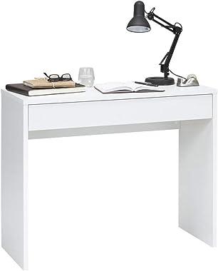 13Casa - Honor A16 - Scrivania. Dim: 100x40x80 h cm. Col: Bianco. Mat: Nobilitato., legno