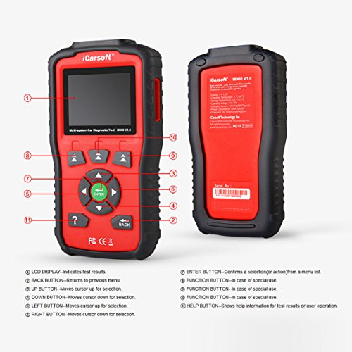 New iCarsoft Auto Diagnostic Scan Tool M900 V1.0 for Mercedes-Benz/Sprinter/Smart ABS,Oil Reset