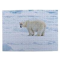 北極 白熊 氷 500ピース ジグソーパズル ピクチュアパズル 木製の風景パズル、人物 動物 風景 漫画絵のパズル 大人の子供のおもちゃ家の装飾風景パズル Puzzle 52.2x38.5cm