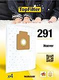 TopFilter 291, 4 sacs aspirateur pour Hoover boîte de sacs d'aspiration en non-tissé, 4 sacs à poussière (30 x 26 x 0,1 cm)