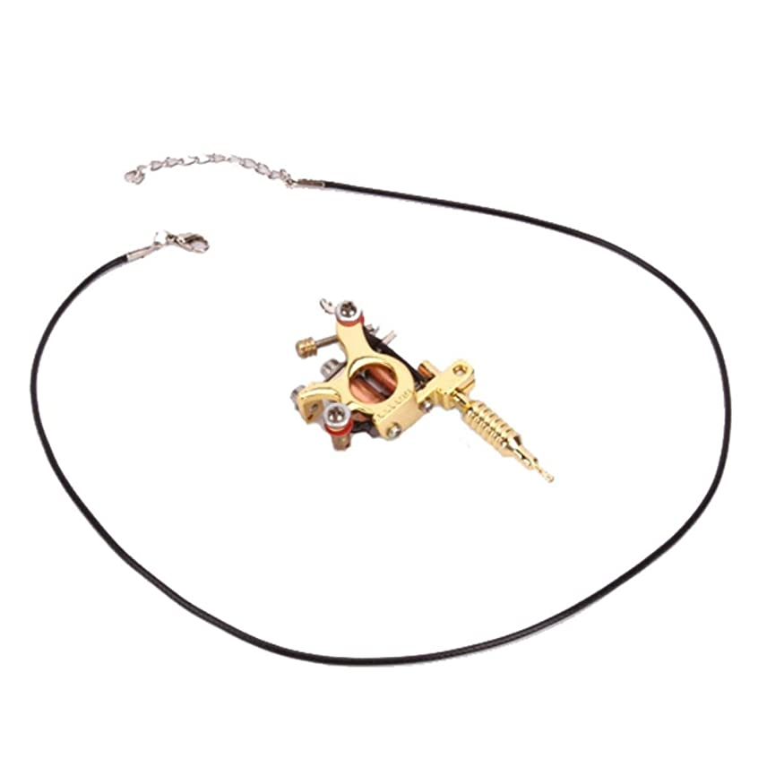 反発する贈り物中央値鋳造技術ユニセックスゴールデン&シルバー8ワープコイルGs100ファッションミニガンタトゥーマシンペンダントおもちゃ-ゴールド