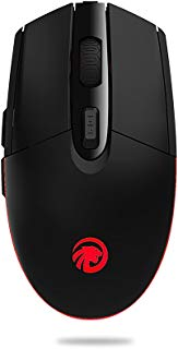 Wireless Mouse,Attoe 2.4G Ergonomic Gaming Mouse 800-1200-1600DPI Optic Mouse with Colourful LED Breathing Light,Silent for PC Laptop Notebook Windows Use (Black)