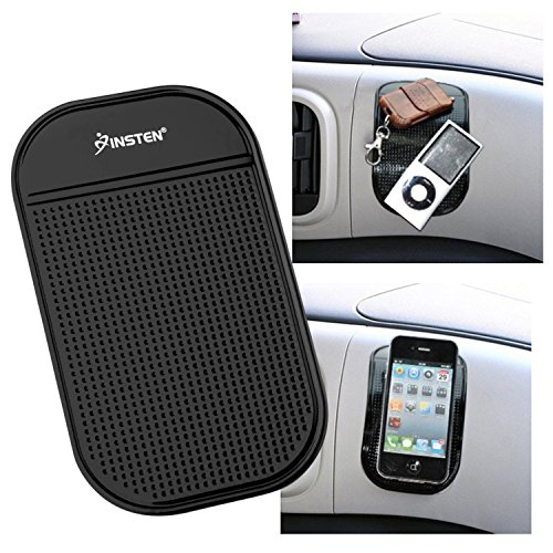 """Insten Anti-Slip Car Dash Sticky Gel Pad Non-Slip Universal Mount Holder Mat 5.7"""" x 3.5"""" Compatible with Keychains/Cell Phone/iPhone 11/11 Pro/ 11 Pro Max/X/XS/XS Max/XR/8 +/7/6S/S10/S10 +/S10e/S9/S9+"""