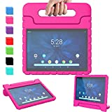 "AVAWO Kids Case for Walmart Onn 10.1"" 2019, Onn 10.1 Tablet Case, Light Weight Shock Proof Handle Stand Kids Case for Walmart Onn 10.1 inch Android Tablet (2019)(JUST FIT Model: ONA19TB003), Rose"