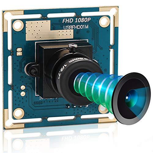 ALPCAM 2MP USB Camera Module Full HD 1080P Webcam with CMOS OV2710 Image Sensor,High Speed VGA 100FPS USB Camera with 3.6mm Lens, Plug&Play Free Drive USB 2.0 Camera for Window/Linux/Raspberry Pi