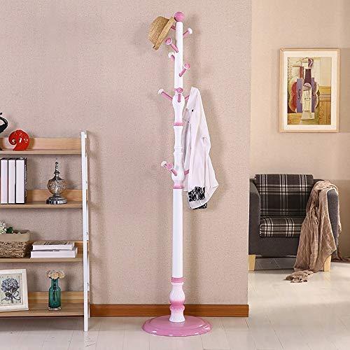 Poetry kledinghaken van massief hout in landelijke stijl, vloerhanger, hanger voor slaapkamer, woonkamer, Europese stijl, 185 x 43 cm A++ (kleur: 1#)