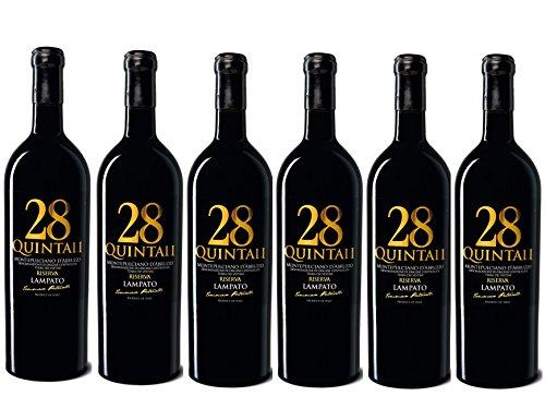 Vino Rosso Montepulciano d Abruzzo D.O.C.G. Riserva 2014 - Cantine LAMPATO  Colline Pescaresi-Abruzzo-Italy - Box da 6 Bottiglie da 0,75 lt.