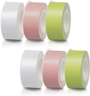 テプラ Lite 互換テープ LP15S LP15P LP15G 3色X2 キングジム用 ホワイト・ピンク・グリーン 3色X2セット 幅15mm 長さ4m 対応機種:LR20 LR-RK1 LR30 MP20 LR5 MP365 MP10【Un...