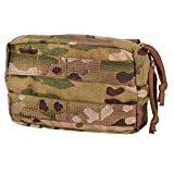 Chase Tactical General Purpose Small Utility Pouch – Horizontal, Lightweight, Fully Adjustable – Attaches With Upright MOLLE – For Military, Law Enforcement, Medical, Combat Training, Multicam, Medium