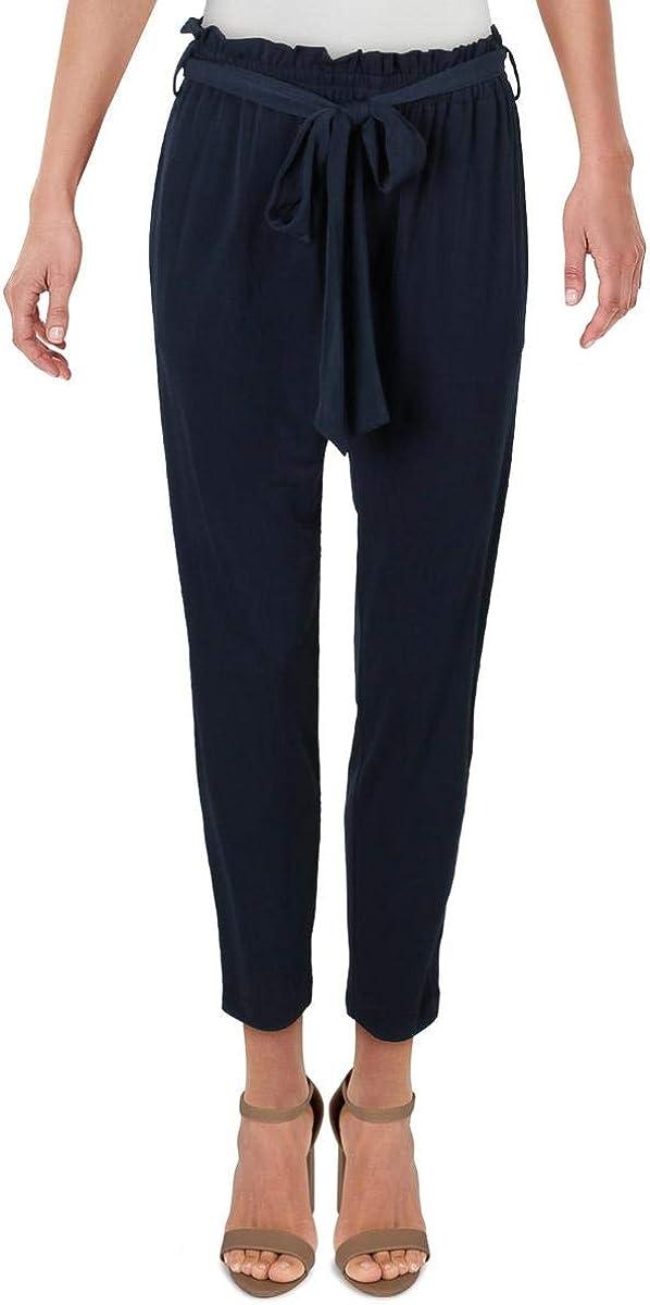 BCBGeneration Womens Tie Waist Paperbag Pants