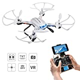 Potensic Drone with Camera, F181WH Drone RTF Altitude Hold RC Quadcopter UFO with 2MP WiFi Camera (White)