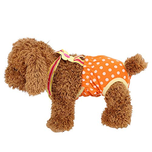 FOKH Pantalones Sanitarios menstruales para Perros, pañales para Perros, algodón para Perros, Perros, Perros medianos, Perros pequeños(#6)