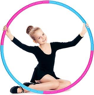 la Perte de Poids Convient aux D/ébutants pour Utiliser la Gymnastique avec Un Micro-Ruban /à Mesurer Cerceau Hula Hoop R/églable en Mousse de 0,75 /à 1,0 kg sancuanyi Hula Hoop Adulte