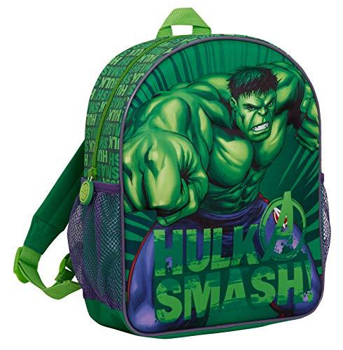 Boys 3D Incredible Hulk Backpack Kids Marvel Avengers School Lunch Travel Rucksack Bag
