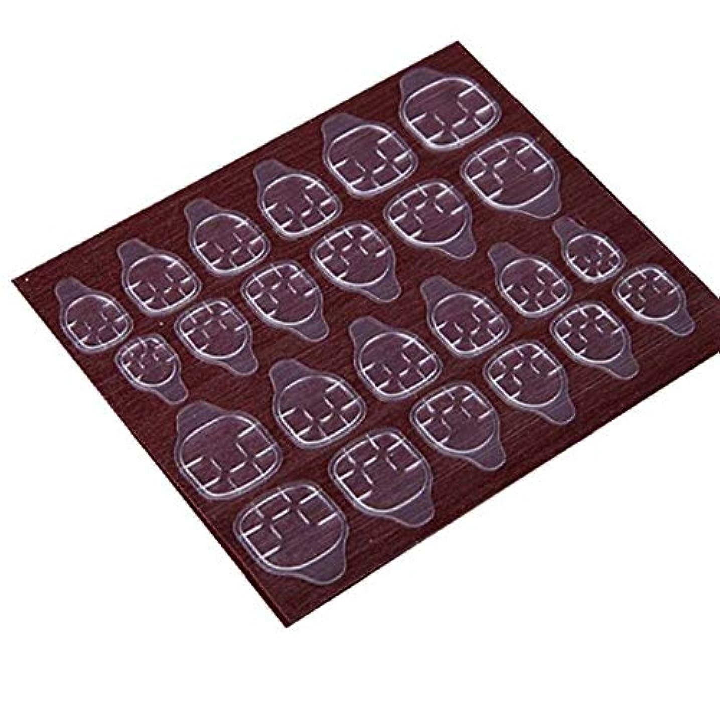 楕円形教えて北へYUJIA 高品質 240枚/セット ネイルチップ接着剤 ゼリー両面接着剤 ネイルチップ両面テープ つけ爪両面テープ (240枚/セット-つけ爪ゼリー両面テープ)