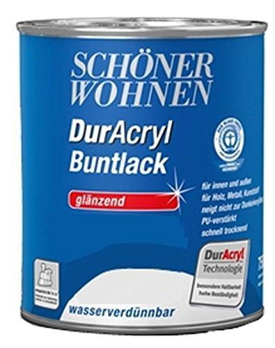 750 ml Schutz Farbe Ral 1515 Cashmere Schöner Wohnen DurAcryl Bunt Trend Lack Dose glänzend wasserverdünnbar innen außen Bowatex