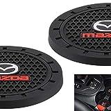 AOOOOP Car Interior Accessories for Mazda Cup Holder Insert Coaster - Silicone Anti Slip Cup Mat for Mazda 3 6 CX-3 CX-5 CX-9 MX-5 (Set of 2, 2.75' Diameter)
