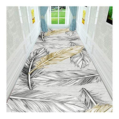 XDFERW Teppich Teppiche Flurteppich Läufer Lang Noblesse Schmutz Stopper rutschfeste Waschbar Strapazierfähig 6mm (Farbe : B, größe : 80x100cm)