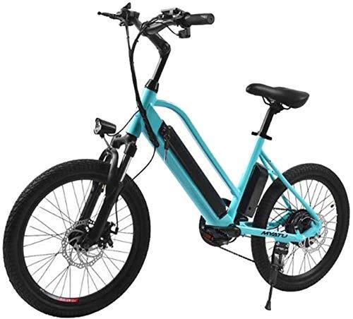 Bicicleta de montaña eléctrica, Adulto bicicleta eléctrica 36v 250w Suspensión completa eléctrica bicicleta de carretera bicicleta de montaña for hombre de aleación de magnesio Ebikes Bicicletas Todo