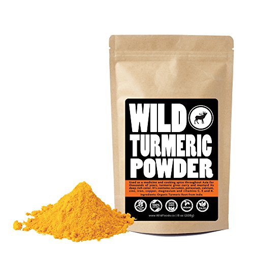 Raw Turmeric Powder, Made From Naturally Grown Turmeric Root, Contains Curcumin, Single-origin, 100% Natural by Wild Foods Co (12 ounce)