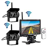 Podofo Wireless Vehicle 2 x Backup Cameras Parking Assistance System...